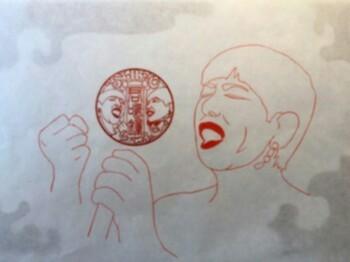 和田アキ子印章画(あの鐘を鳴らすのはあなた)神尾印房